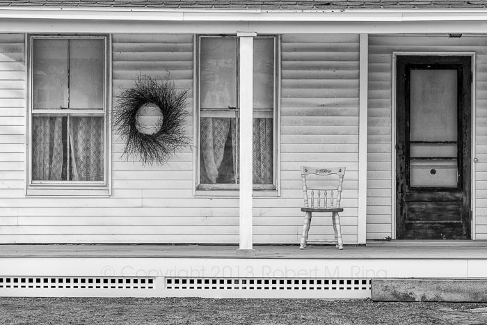 front porch, new england, photograph, black & white, photo