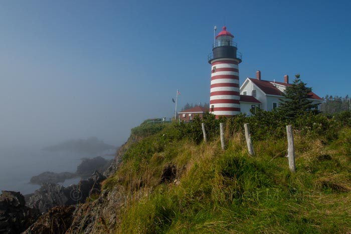 West Quoddy head Lighthouse, early morning sun, Lubec, ME, New England Photo Workshops, photo