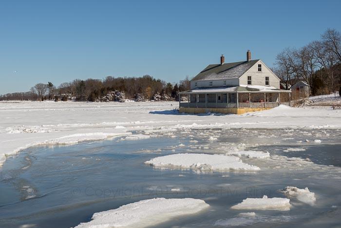 House, essex, ma, New England, Scenic, marsh house, ice, photo