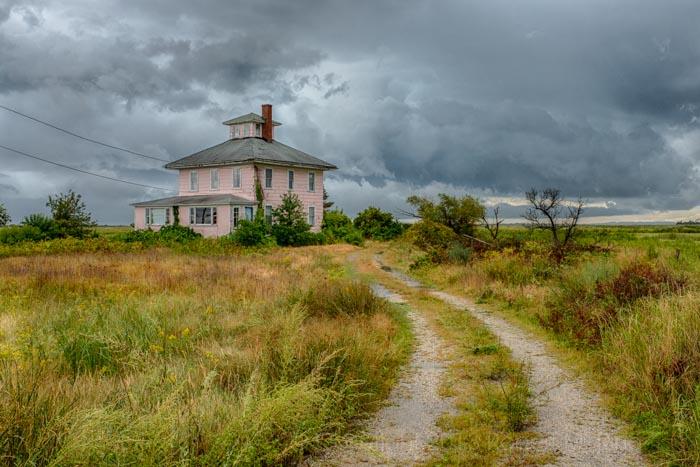 Pink House With Storm, MA, Newburyport, photo