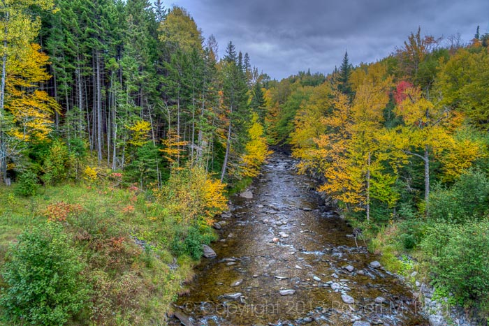 Pitsburg, NH, Foliage, stream, New England, HDR, New England Photo Workshops, photo