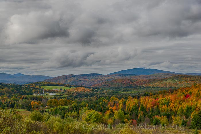 When you have peak foliage seek out high places to look into the valleys below.  This sight in Clarksville, NH was just...