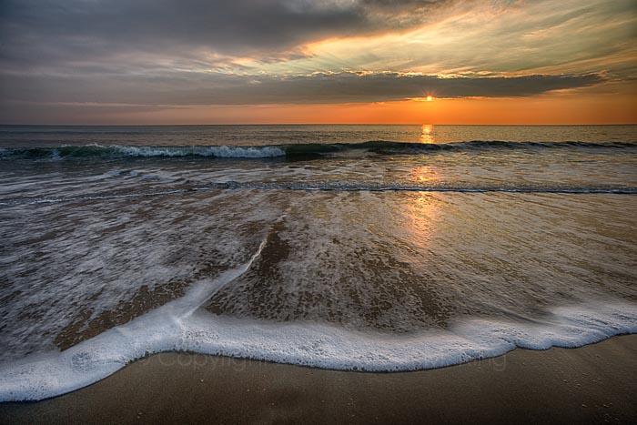 Beach,Salisbury,Sunrise, wave, waves, sky, clouds, photo