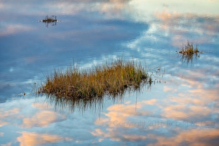 Clouds,PRNWR, reflection, photo
