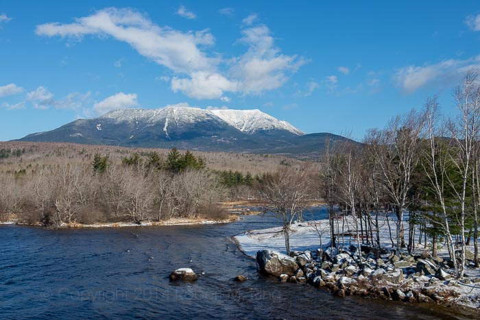 Mount Katahdin, Maine, snow, New England, photo
