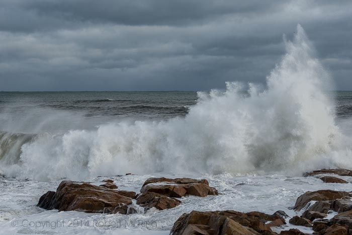 Around the corner from Good Harbor Beach there was a lot of excitement from the waves after a 2014 January storm.
