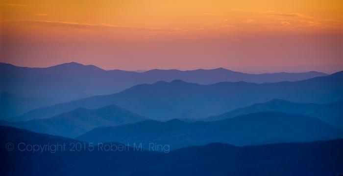 Smoky Mountains, sunset, photo