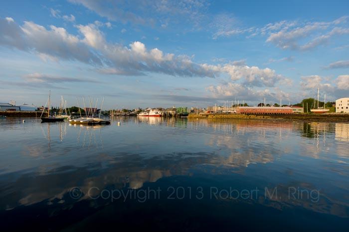 Rockland Harbor, early morning, photo