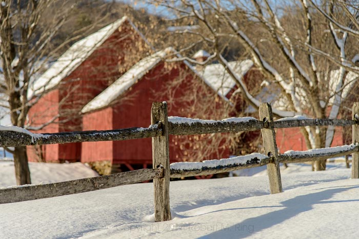 Vermont is known for its red barns and they really do look great in Winter!