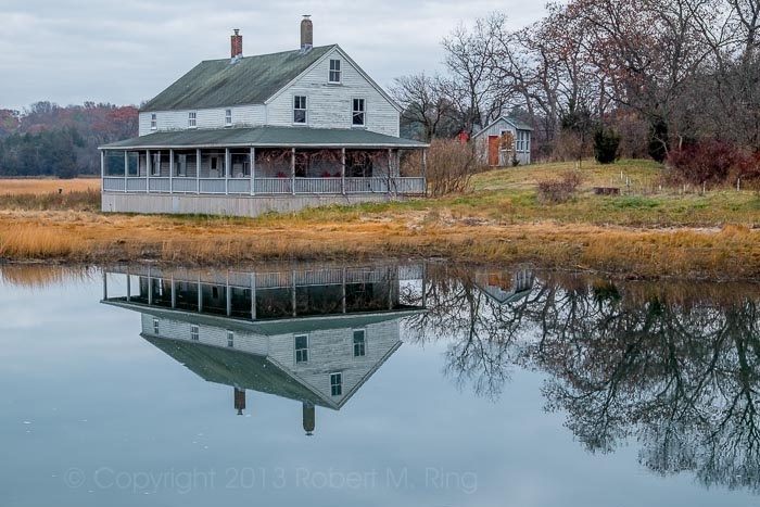 Essex, MA, Marsh House, reflection, photo